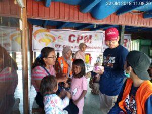 Bantuan Vaksinasi terhadap korban bencana di Palu
